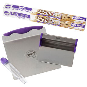 Cake Baker's Tools and Parchment Paper Set