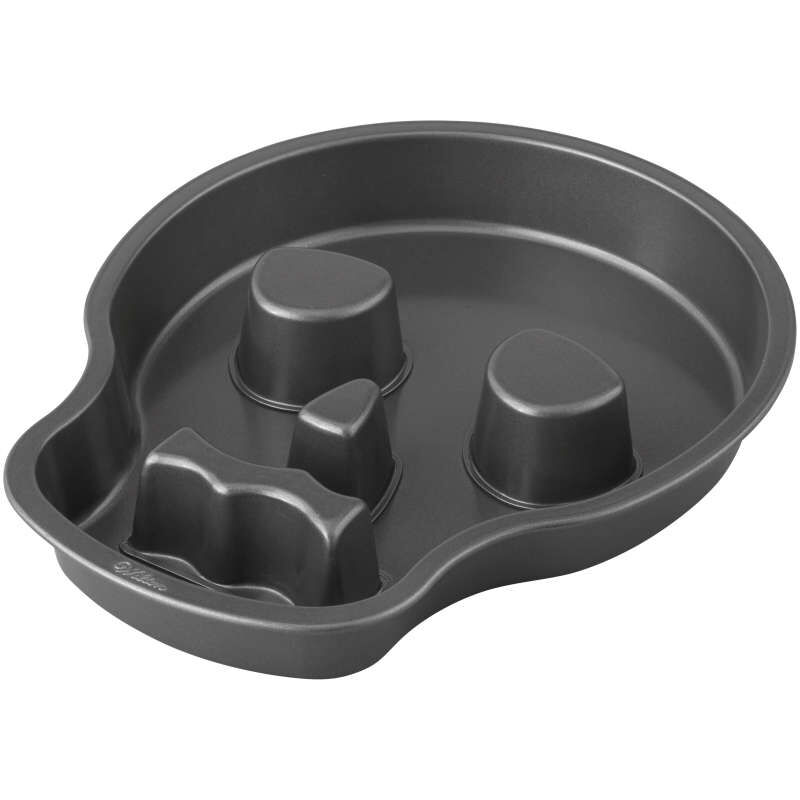 Halloween Non-Stick Skull-Shaped Cake Pan, 9.5 x 12-Inch image number 3