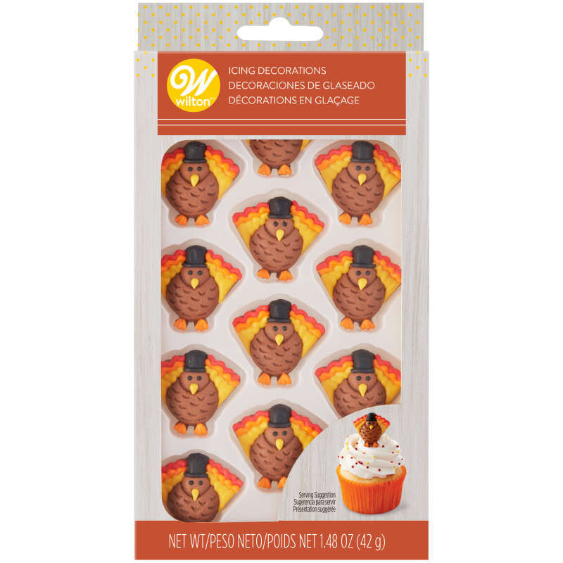 Turkey Icing Decorations, 12-Count image number 2