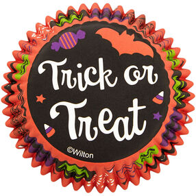 Trick or Treat Halloween Standard Cupcake Liners, 75-Count