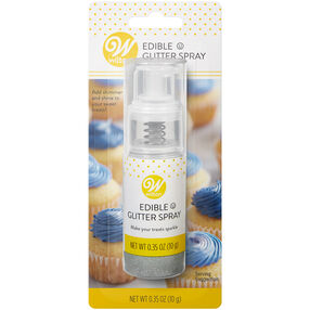 Edible Silver Glitter Spray, 0.35 oz.