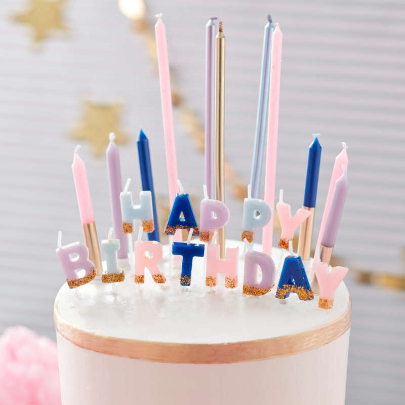 Floral Party Birthday Candle Set, 25-Count image number 2