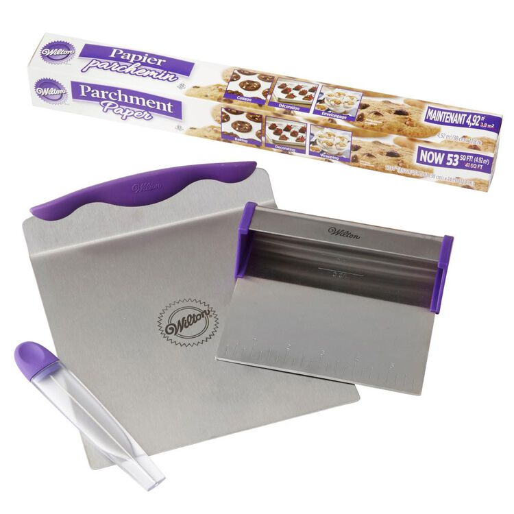 Cake Baking Tools and Parchment Paper Set - Baker's Blade, 8-Inch Cake Lifter, Cake Tester, 53 sq. ft. Parchment Paper