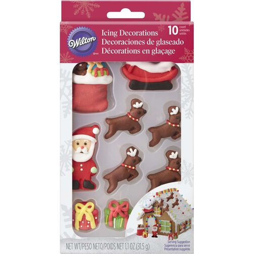 Wilton Santa and Reindeer Gingerbread House Decorating Kit