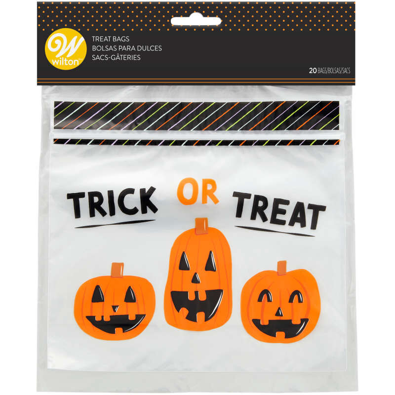 Trick or Treat Resealable Halloween Treat Bags, 20-Count image number 0