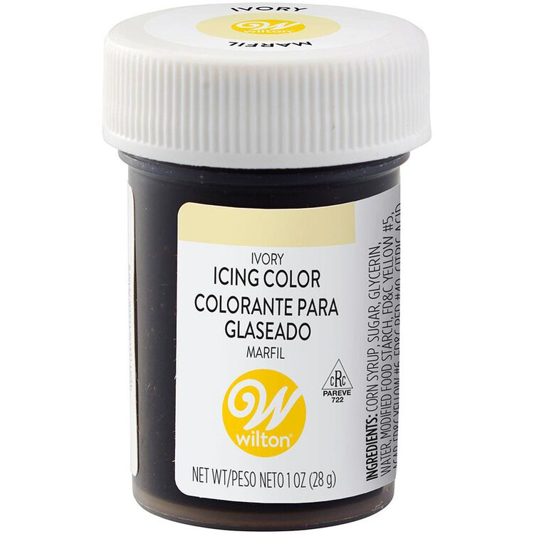 Ivory Gel Food Coloring Icing Color
