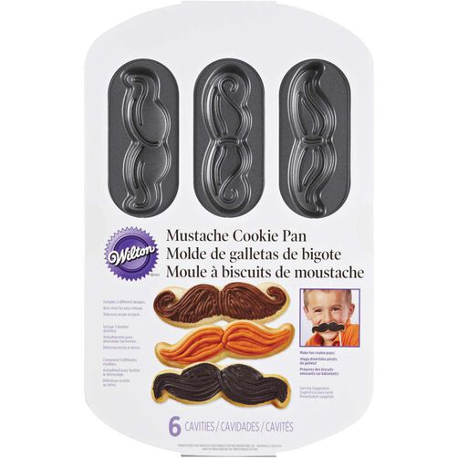 Mustache Cookie Pan