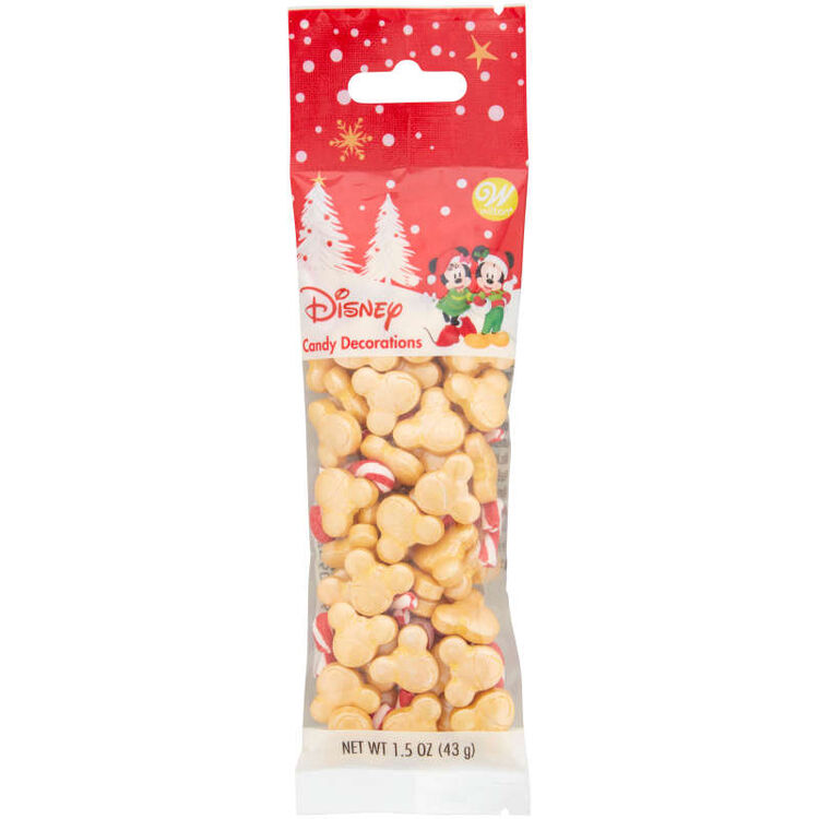 Disney Mickey Mouse Gold and Candy Cane-Shaped Sprinkles, 1.5 oz.