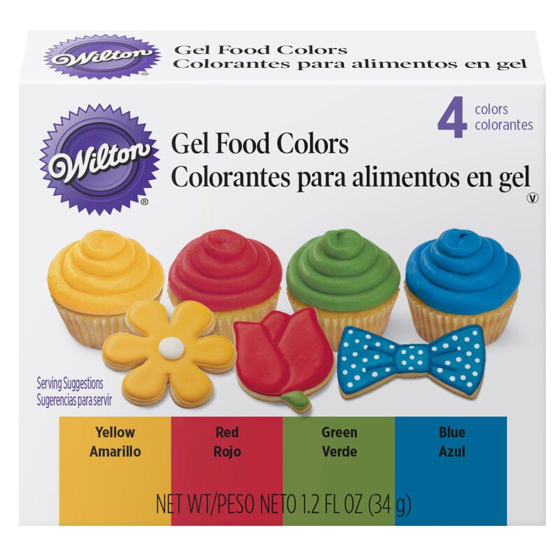 Primary Icing Colors, 4-Piece - Gel Icing Colors image number 0