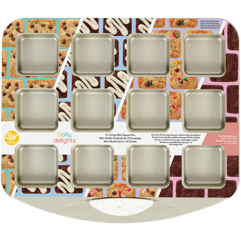Daily Delights Non-Stick Mini Square Pan, 12-Cavity image number 2