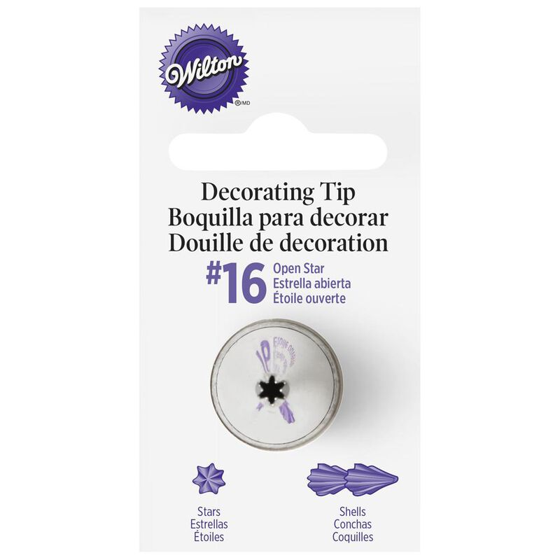 Wilton Decorating Tips - #16 Open Star Piping Tip image number 0