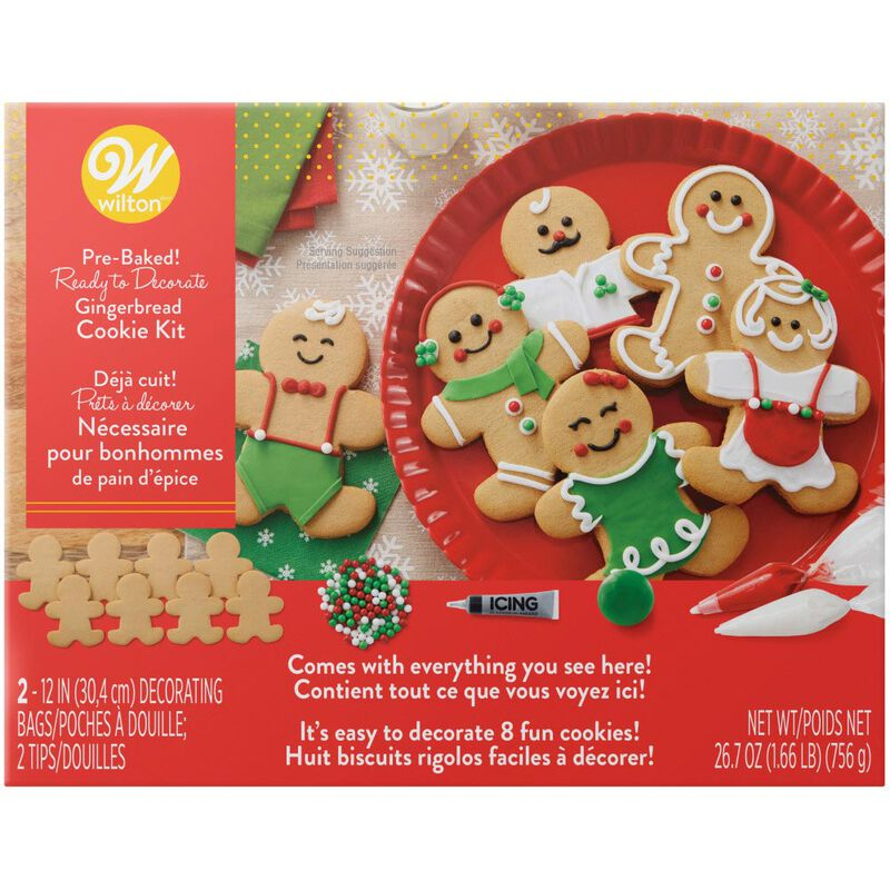 Ready to Decorate Gingerbread Dress-'Em-Up Cookie Decorating Kit image number 0