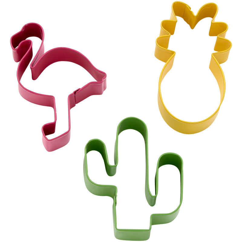 Tropical Cookie Cutter Set, 3-Piece image number 0