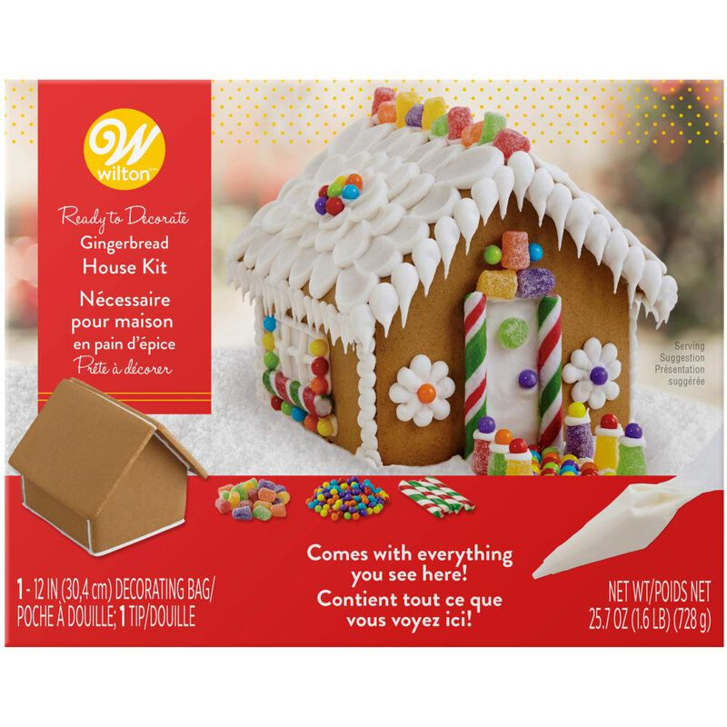 Ready to Decorate Full of Cheer Gingerbread House Decorating Kit image number 0