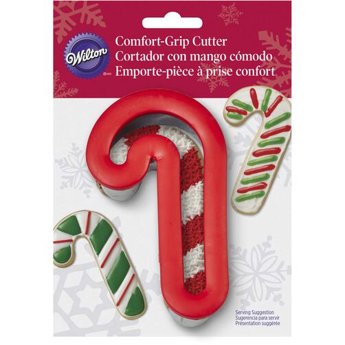 Wilton Comfort Grip Candy Cane Cookie Cutter