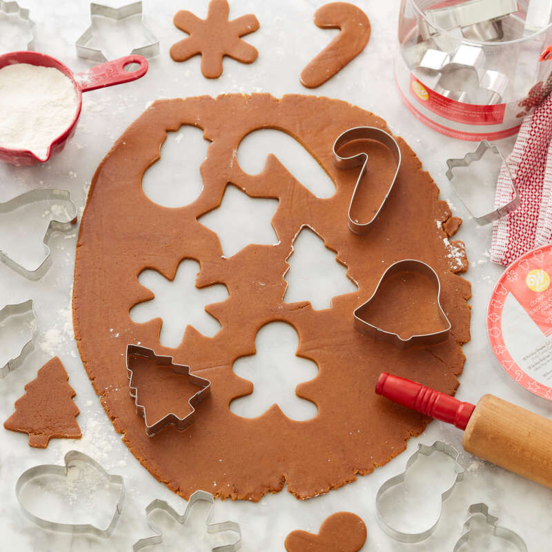 Holiday Shapes Metal Cookie Cutter Set, 18-Piece image number 3