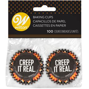 Halloween Creep It Real Mini Cupcake Liners, 100-Count