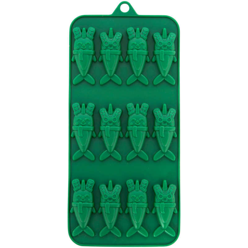 Christmas Narwhals Silicone Candy Mold, 12-Cavity image number 1