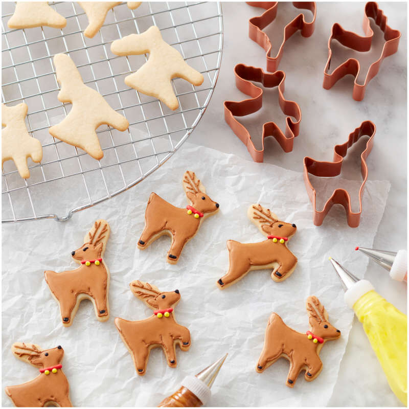 Reindeer Cookie Cutter Set, 4-Piece image number 2