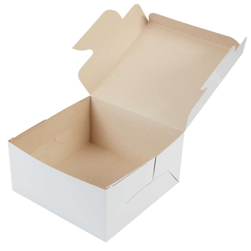 White Cardboard Cake Box, 10-Inch image number 1