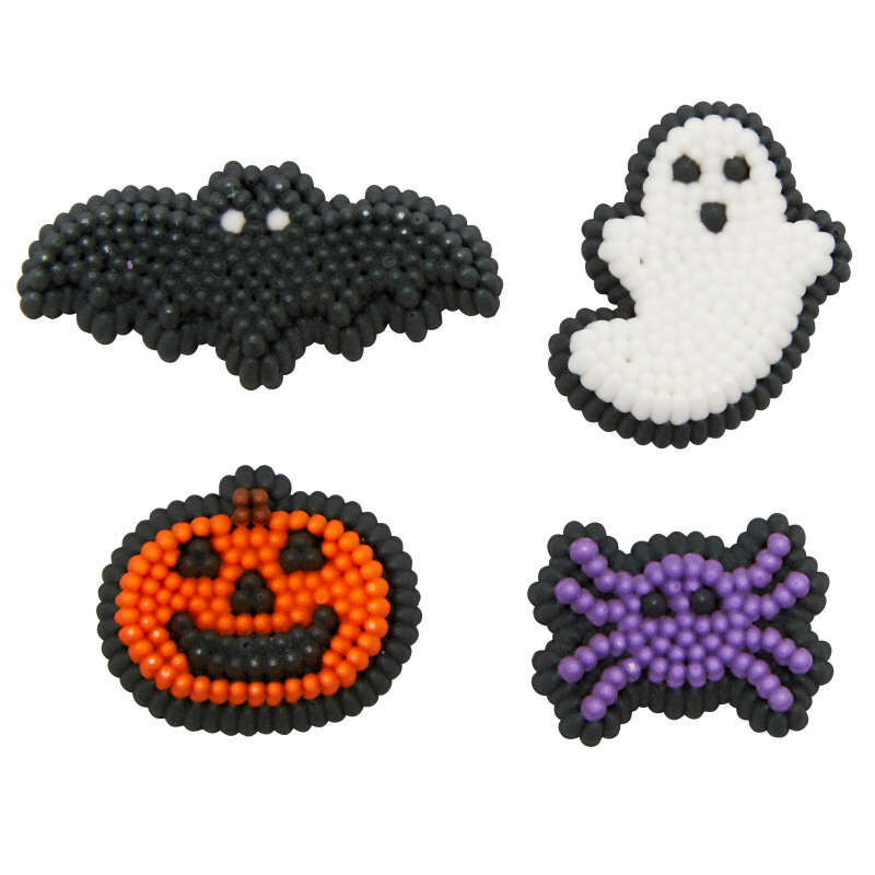 Halloween Shapes Icing Decorations, 12-Count image number 0