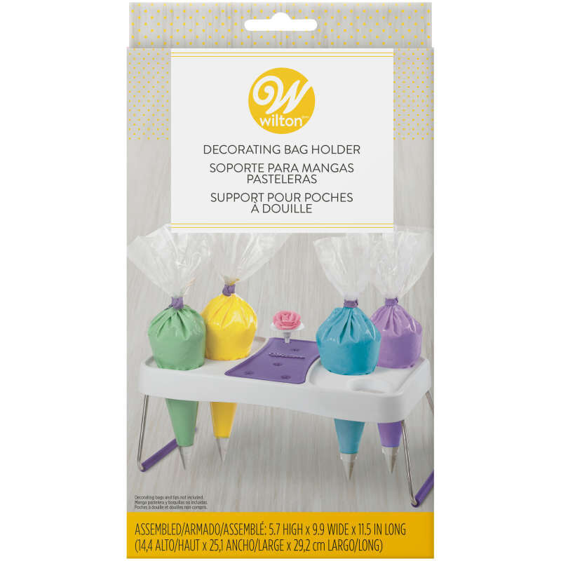 Cake Decorating Icing Bag Stand, 6-Cavity image number 3