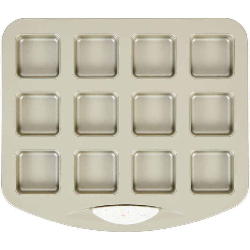 Daily Delights Non-Stick Mini Square Pan, 12-Cavity image number 0