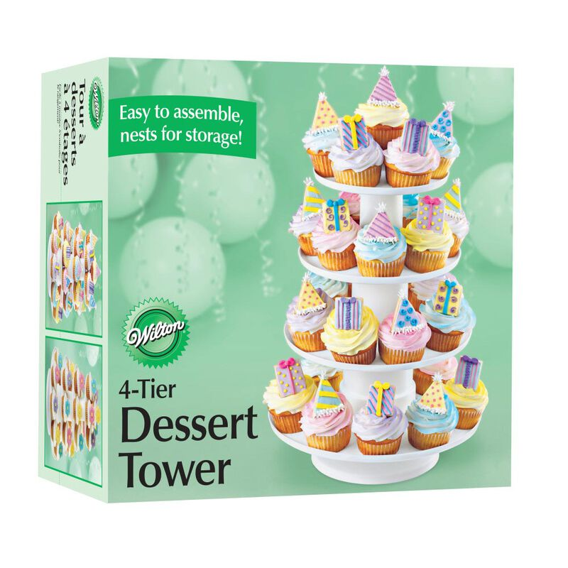 Stacked 4-Tier Cupcake and Dessert Tower image number 6