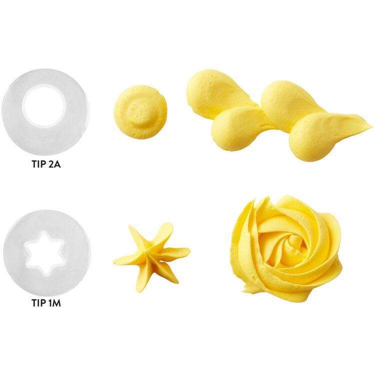 Disposable Cake Decorating Tips Set, 2-Piece