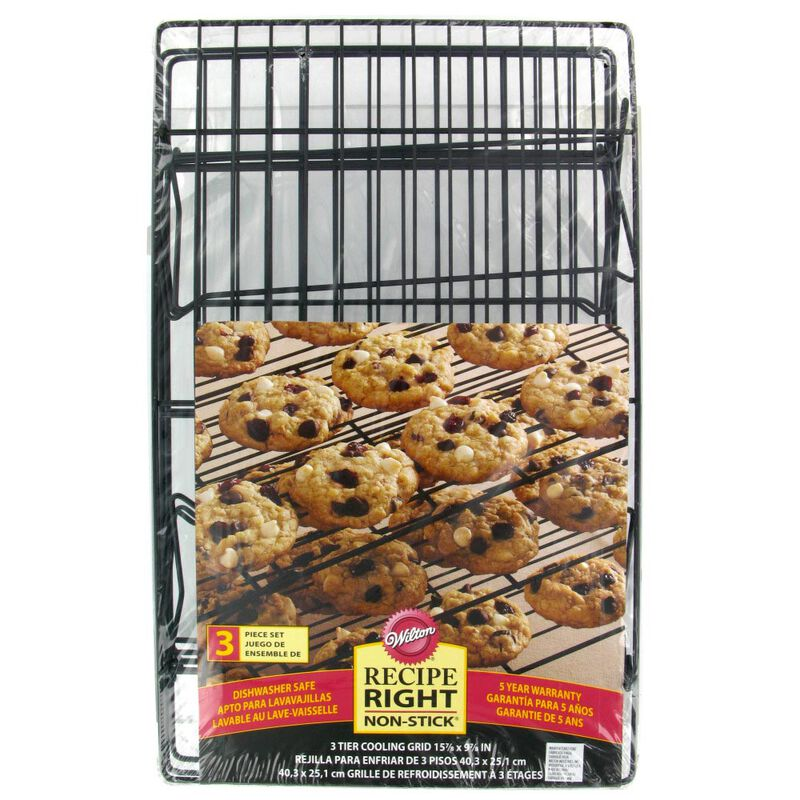 Recipe Right Non-Stick Cooling Rack, 3-Tier image number 1