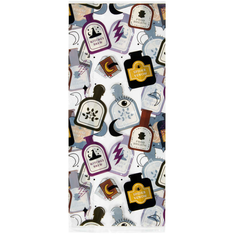 Spells and Potions Halloween Treat Bags, 20-Count image number 2