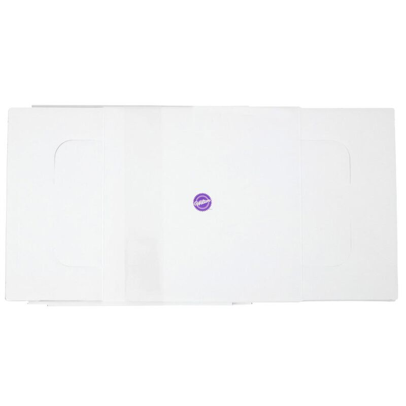 White Square Corrugated Cake Box, 2-Count image number 3