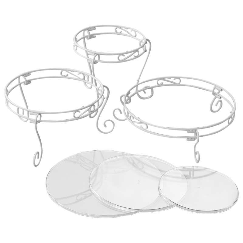 White Cake Stand and Dessert Display Set, 15-Piece image number 0