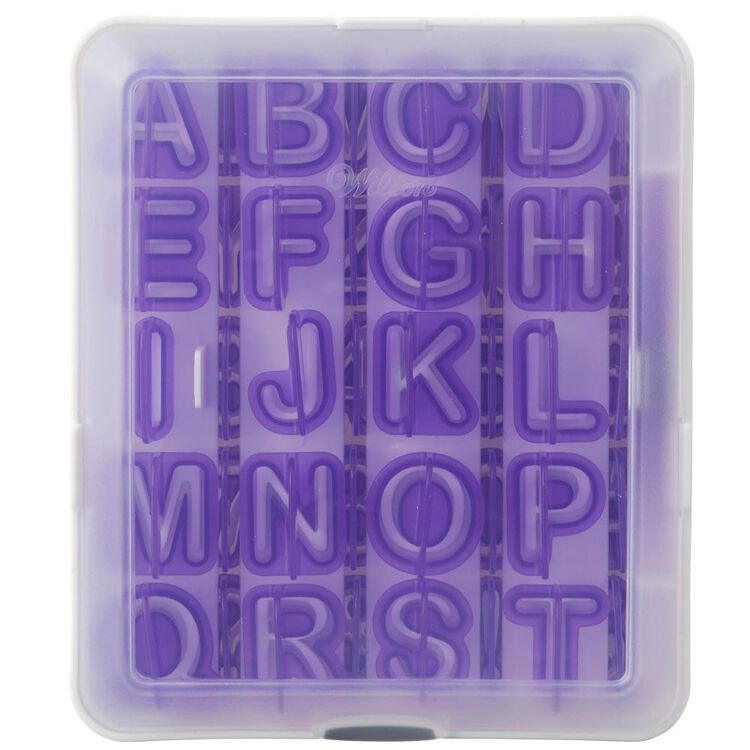 Letter and Number Fondant Cutters Set, 40-Piece