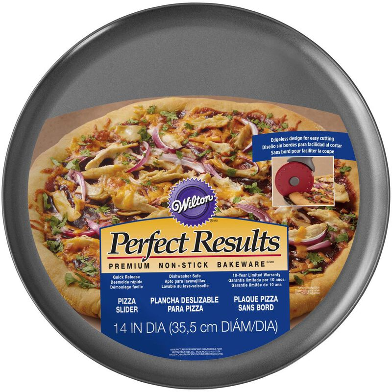 Perfect Results Premium Non-Stick Bakeware Pizza Pan, 14-Inch image number 1