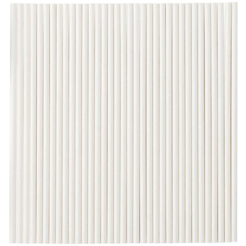 White 6-Inch Lollipop Sticks, 35-Count Pack image number 1