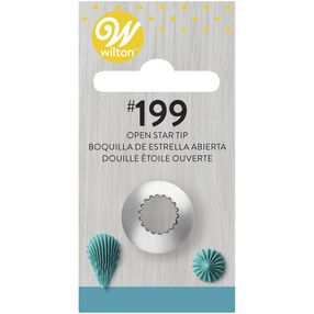 Wilton Decorating Tips - #199 Open Star Piping Tip