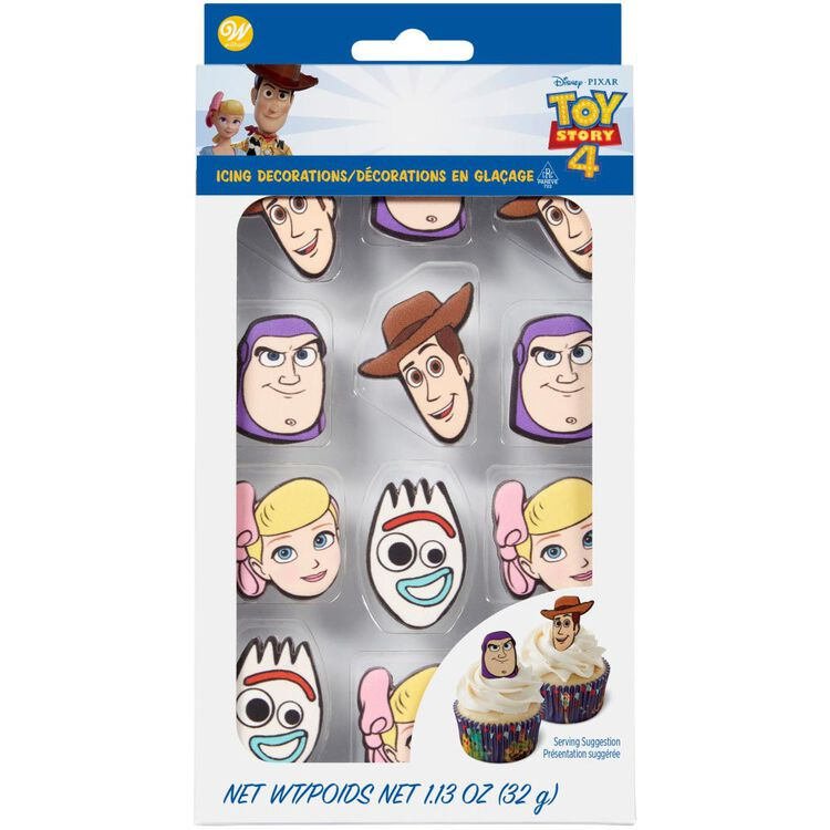 Disney Pixar Toy Story 4 Icing Decorations, 12-Count
