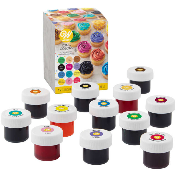 Icing Colors Gel Food Coloring, 12-Count