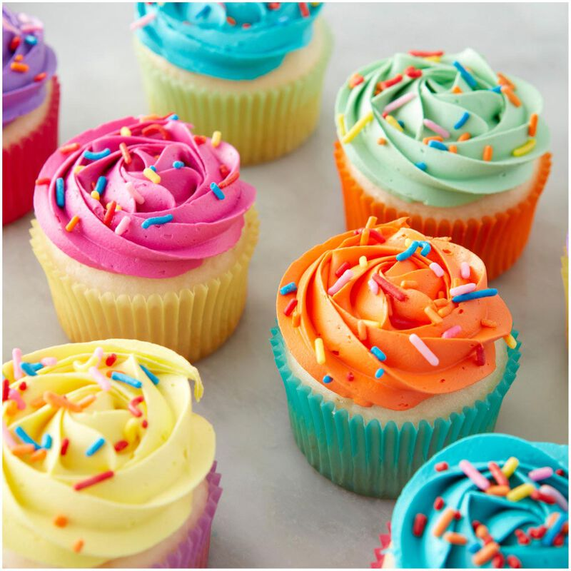 Pastel Rainbow Cupcake Liners, 150-Count image number 4