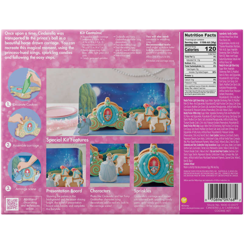 Disney Cinderella's Carriage Cookie Decorating Kit image number 3