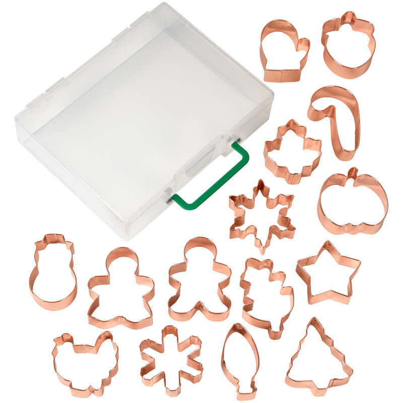 Copper Cookie Cutter Set, 16-Piece image number 1