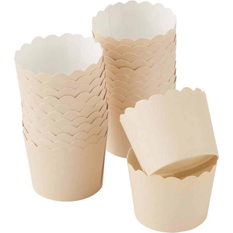 Scalloped Kraft Cupcake Liners image number 2
