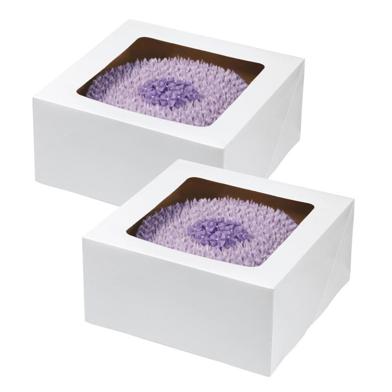 12-Inch Cake Box with Window for 10-Inch Cake, 2-Piece Set image number 0