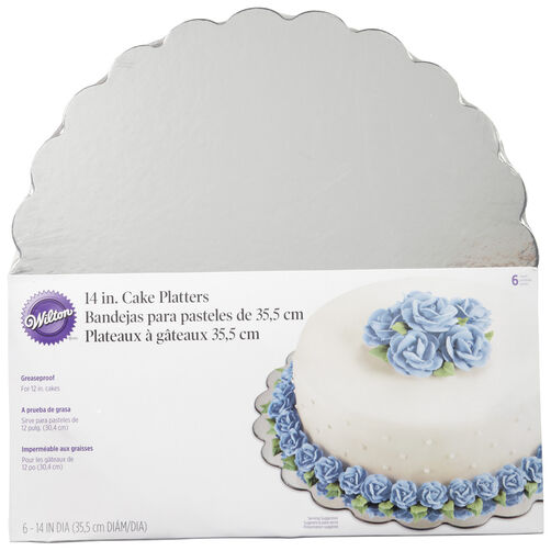 14 in. Round Silver Cake Platter