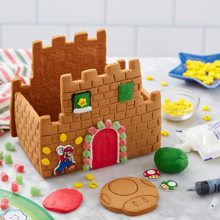 Build it Yourself Super Mario Gingerbread Castle Decorating Kit