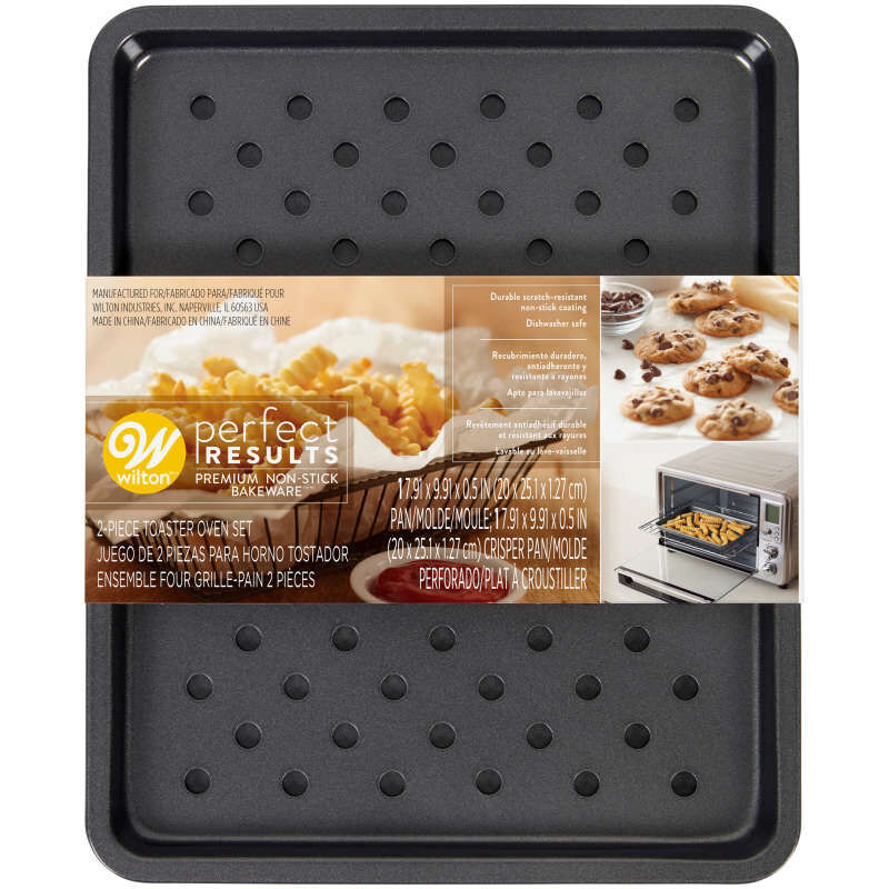 Perfect Results Toaster Oven Sheet Pan & Crisper Set, 2-Piece image number 2
