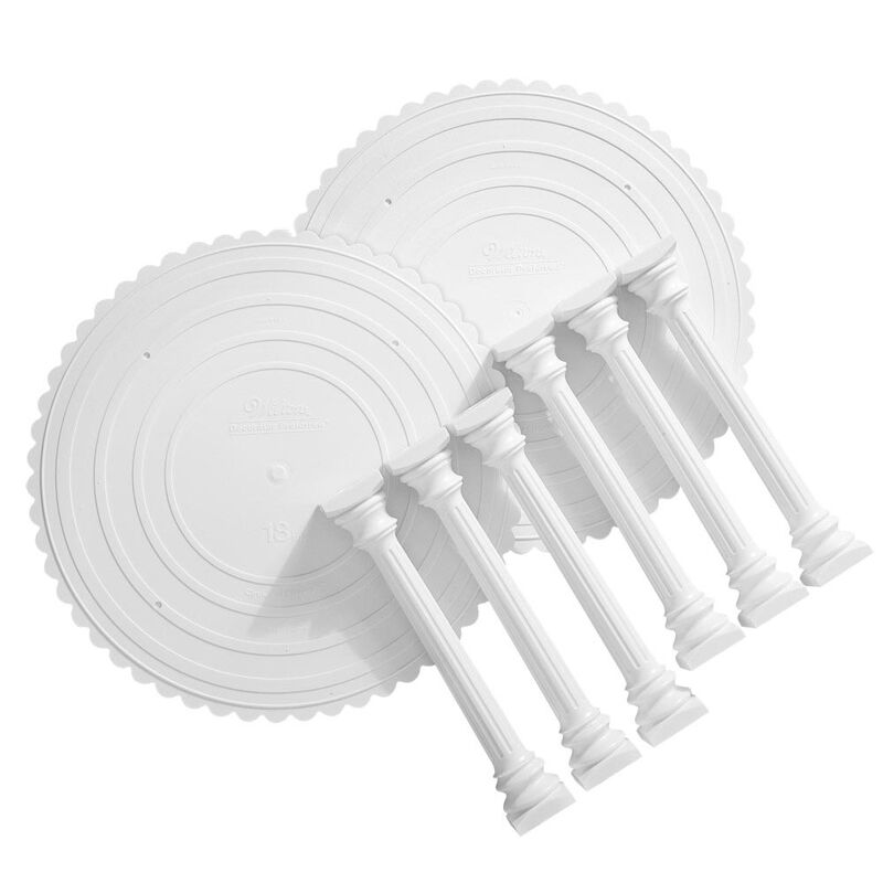 Roman Column Tiered Wedding Cake Stand, 8-Piece image number 0