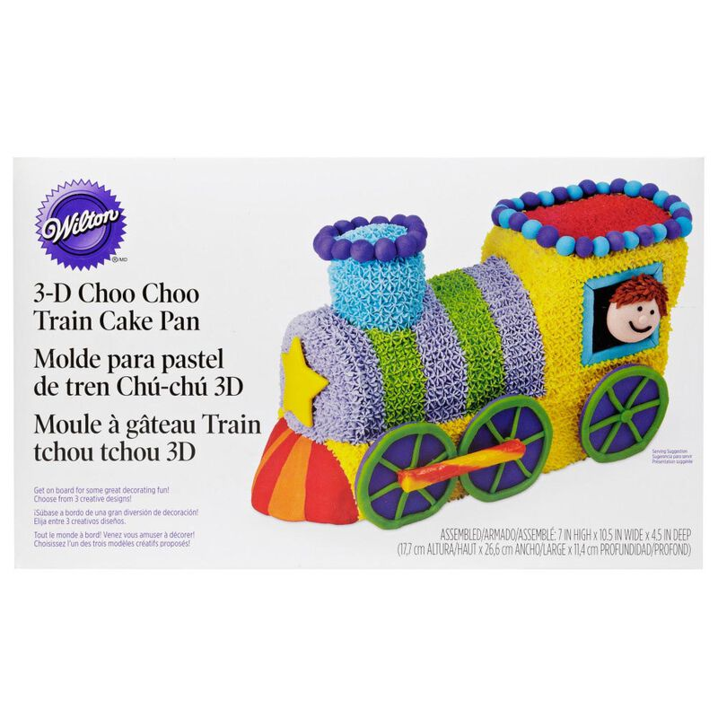Train Cake Pan, 2-Piece Kids Birthday Cake Pan image number 1