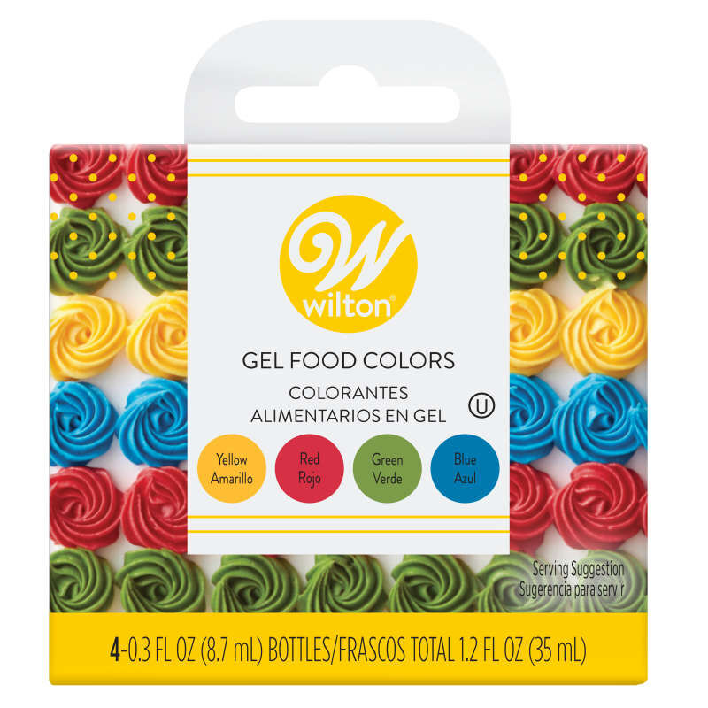 Red, Yellow, Green and Blue Gel Food Color Set, 4-Count image number 0